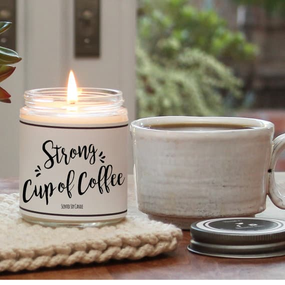 coffee candle coffee gift guide